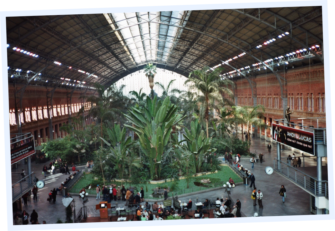 Atocha station in Madrid